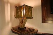 Foglie d'autunno - lampada in legno