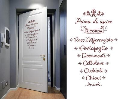 Adesivo promemoria per porta