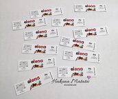 Set 12 etichette adesive personalizzate per nutellina