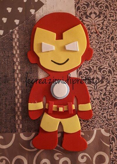Magnete Iron Man in gomma eva