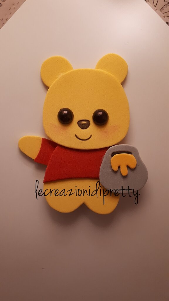 Magnete Winnie the Pooh in gomma eva