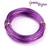 Lotto 1 metro Filo di alluminio 2 mm. purple