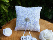 Shabby chic wedding ring pillow