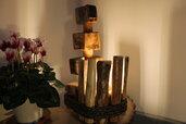 Totem - lampada in legno