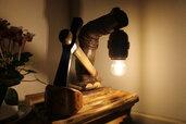 Nel Grigio Pieno Inverno - lampada in legno