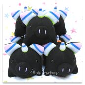 Pupazzo Uniporco Nero - Fanta Pets by Nixie Creations