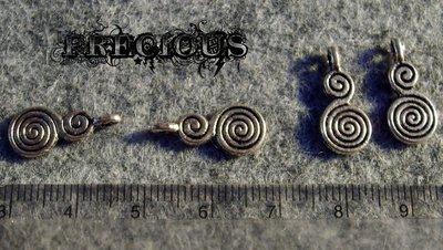 1 pz charm doppia spirale
