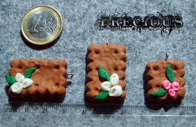 1 pz charm biscotto grande in fimo