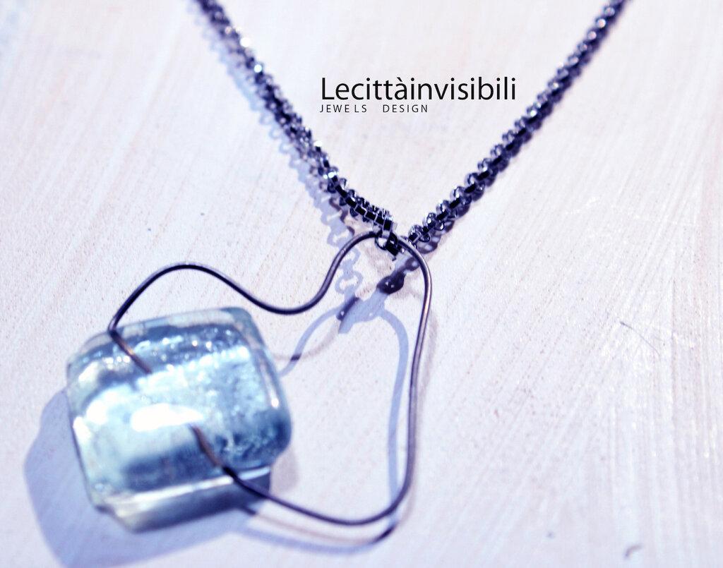 cuore ghiaccio in acciaio e cristallo realizzato a mano collezione cuori unici
