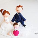 Cake topper personalizzato matrimonio fimo