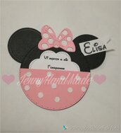 Invito 1compleanno tema minnie topolino