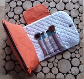 Beauty case con porta pennelli