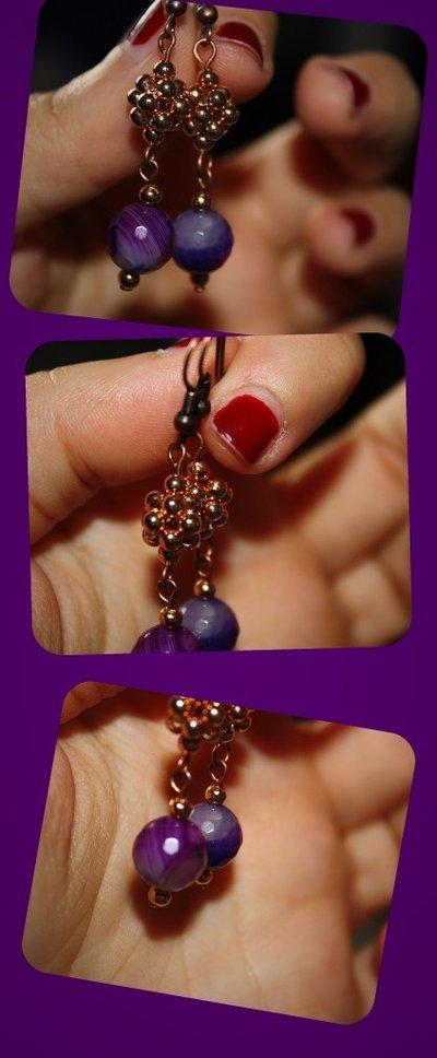 orecchini con diaspro viola