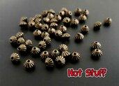 10 Perline distanziatore cono - Bronzo (4x5mm)