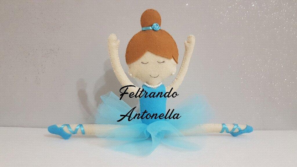 Bambola ballerina feltro e tulle