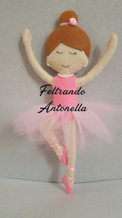 Bambola Ballerina in feltro e tulle