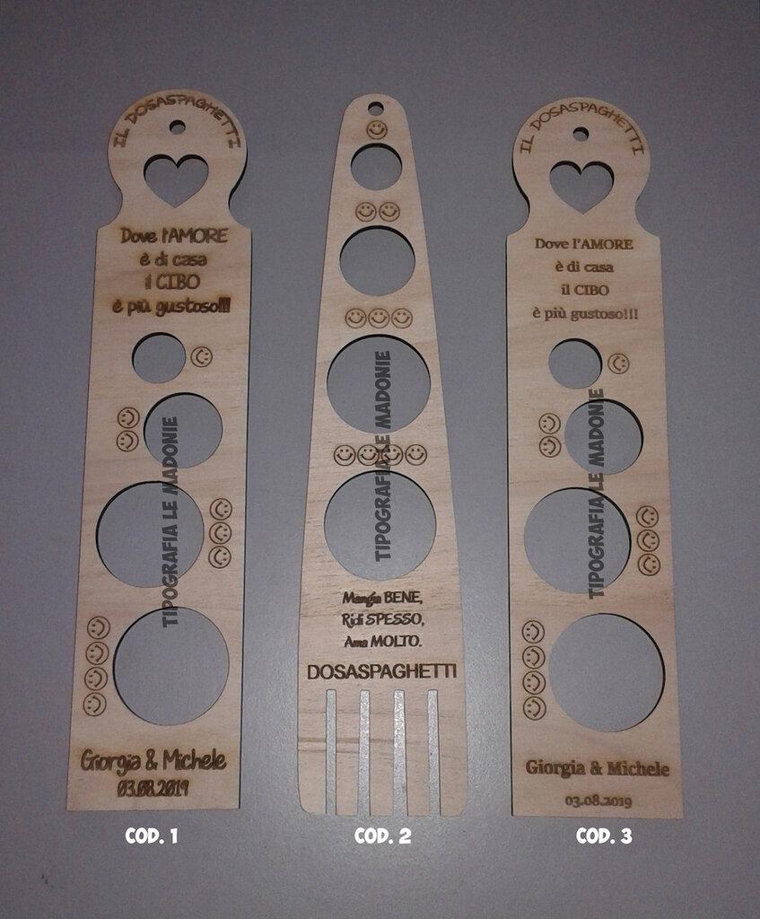 Dosaspaghetti in legno personalizzato