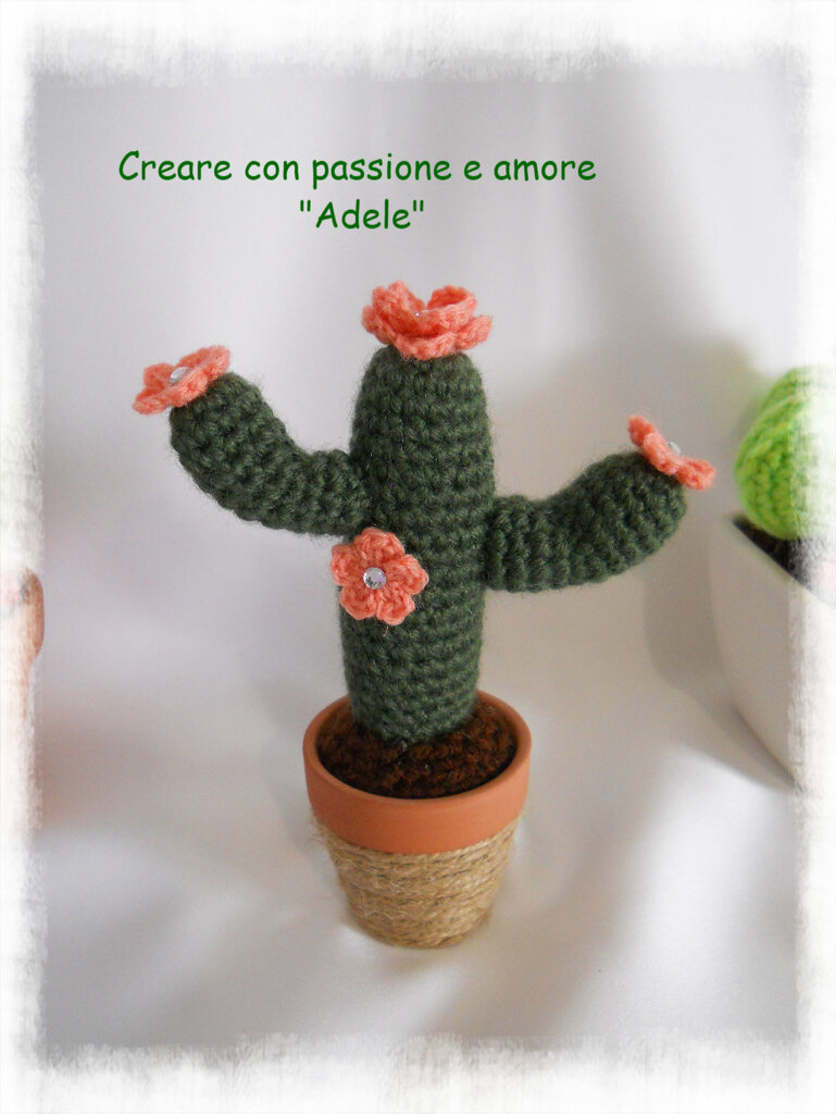 Cactus - pianta grassa ad uncinetto