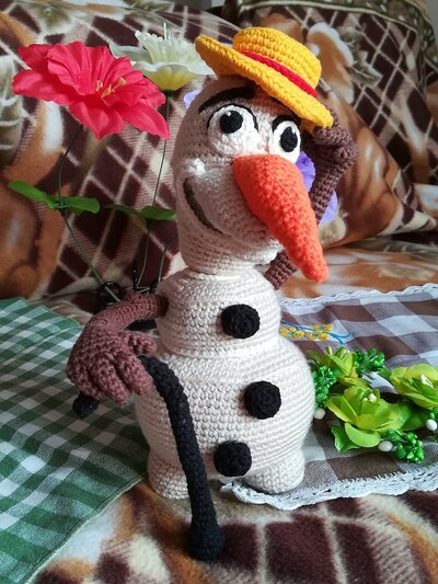 Olaf Frozen estate pupazzo di neve crochet peluche § Hand Knitted Crochet Toys