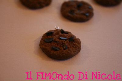 Bicotto al cioccolato - Chocolate chip cookie in Fimo