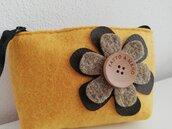 Portamonete feltro - fiore