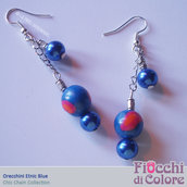 Etnic Blue Earrings