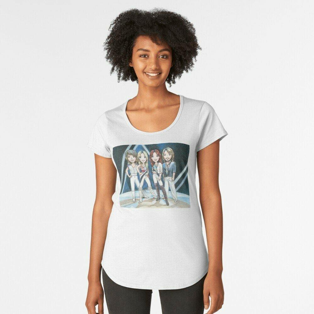 """T-shirt  da donna con stampa """"ABBA fan"""""""