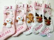 calze della befana, renna, dolcetti, handmade, fatto a mano, pupazzo d neve, gingerbread