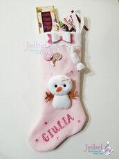 calze della befana, renna, dolcetti, handmade, fatto a mano
