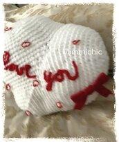 Cuscino bianco San Valentino