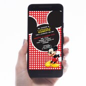 Biglietto Invito digitale Topolino Mickey Mouse