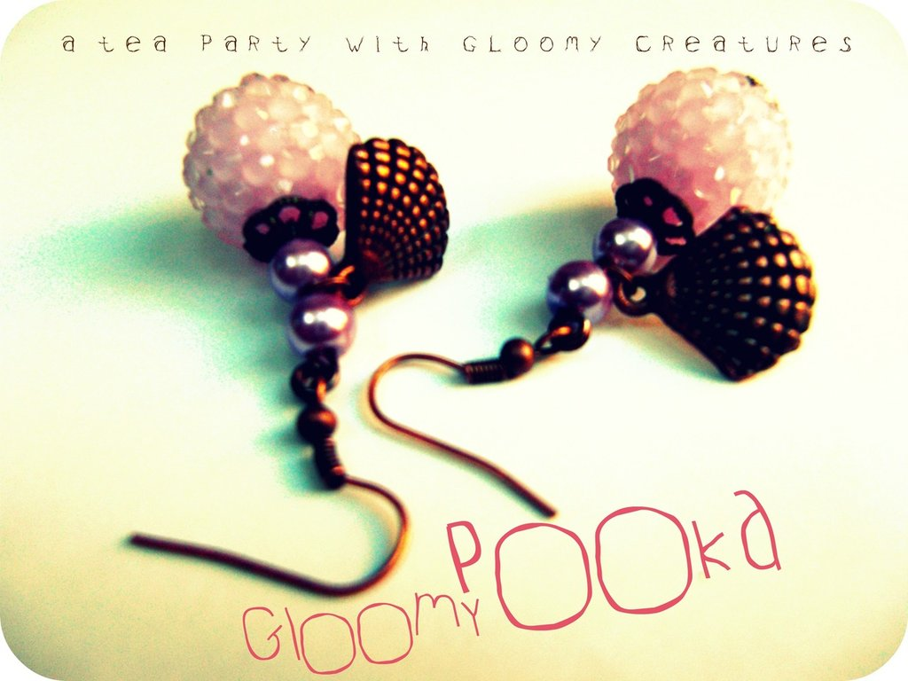 [ Frosted Pink Sugar Earrings ]
