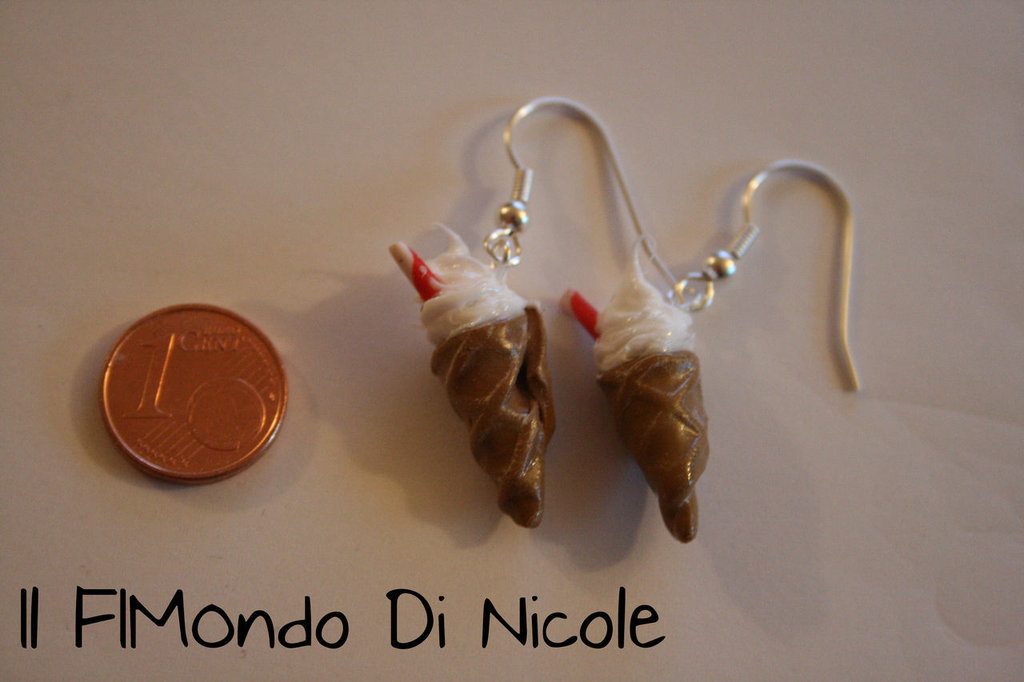 Orecchini Gelato - Ice Cream Earrings - Fimo