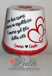 Idea regalo San Valentino Romantica Lampada dedica personalizzata originale ragazza fidanzata lei cuore amore infinito