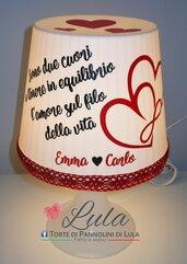 Idea regalo San Valentino Romantica Lampada personalizzata dedica lunga originale ragazza fidanzata lei cuore amore infinito