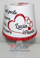 Idea regalo San Valentino Romantica Lampada personalizzata originale ragazza fidanzata lei cuore amore love