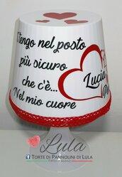 Idea regalo San Valentino Romantica Lampada lunga dedica personalizzata originale ragazza fidanzata lei cuore amore love