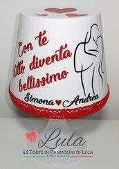 Idea regalo San Valentino Romantica Lampada dedica personalizzata originale ragazza fidanzata lei bacio innamorati
