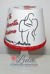 Idea regalo San Valentino Romantica Lampada personalizzata originale ragazza fidanzata lei bacio innamorati coppia love