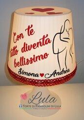 Idea regalo San Valentino Romantica Lampada lunga dedica personalizzata originale ragazza fidanzata lei cuore amore infinito