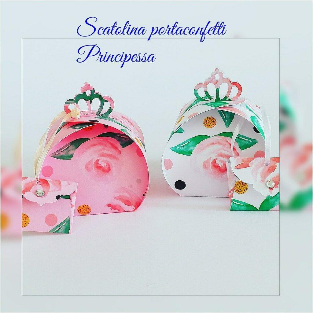 Famoso Scatolina di carta floreale porta confetti principessa - Feste - B DL27
