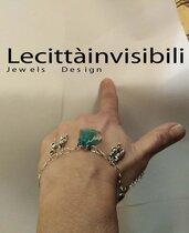 braccialetto ballando per sempre argento800 e cristallo