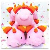 Pupazzo Uniporco Rosa / Arancio - Fanta Pets by Nixie Creations