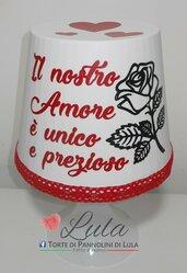 Idea regalo San Valentino Romantica Lampada lunga dedica personalizzata originale ragazza fidanzata lei cuore rosa fiore