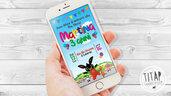 Invito Digitale whatsapp Bing - Invito Whatsapp - Compleanno bambini - Invito digitale Whatsapp - Festa di Compleanno