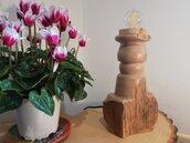 In Principio - lampada in legno
