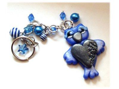 Portachiavi gufo-gufetto (blu)