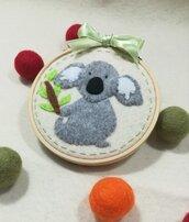 Quadretto tenero koala