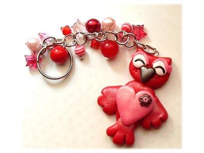 Portachiavi gufo-gufetto (rosso)