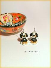 Orecchini Bovaro del Bernese in fimo come regalo per amante dei cani, ricordo cane bovaro del bernese, gioielli con il cane bovaro